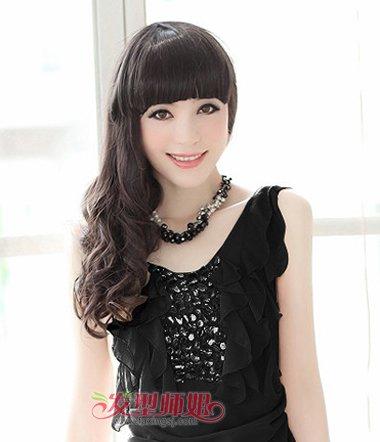 方脸型女生适合齐刘海吗 长方脸齐刘海发型 发型师姐