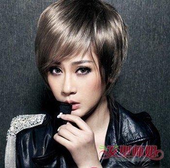大脸短发发型图片 发型师姐图片
