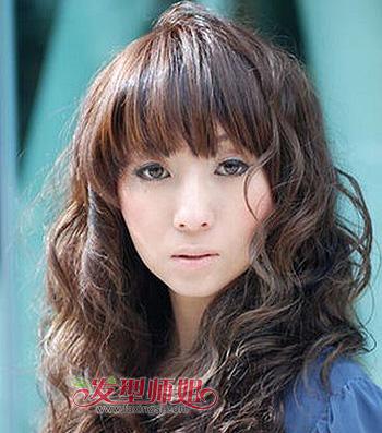 中年胖圆脸发型 三十岁胖脸女士适合的发型图片图片
