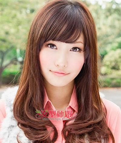 发型脸型 方脸 >> 四方脸适合什么刘海 2015方脸女孩适合的刘海发式(2