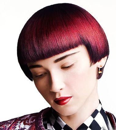 沙宣短发离子烫发型 女士沙宣短发直发型  沙宣发型以特立独行的剪发图片