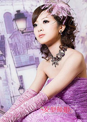 脸宽的女生适合什么刘海 宽脸新娘适合的发型图片(2)