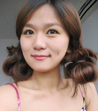 长发怎样扎蘑菇头好看 长头发怎么绑蘑菇头图片