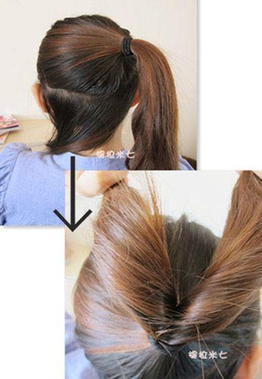 日本蓬松丸子头图解 日系少女怎么扎丸子头