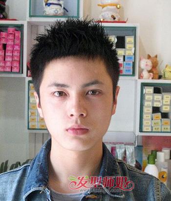 90后简单点的圆脸男生发型 脸圆男生适合什么发型图片
