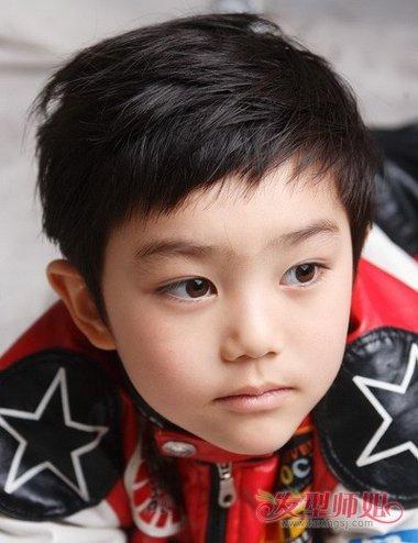 三岁男长脸宝宝发型图片 长方型脸男孩发型图片图片