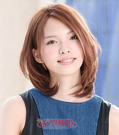 方脸脸型适合直发还是卷发 2015女生长方脸直发发型图片(3)