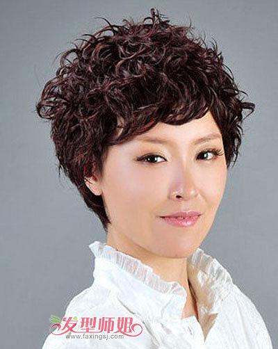 老年超短发烫发发型 中老年女性短发烫发发型 发型师姐