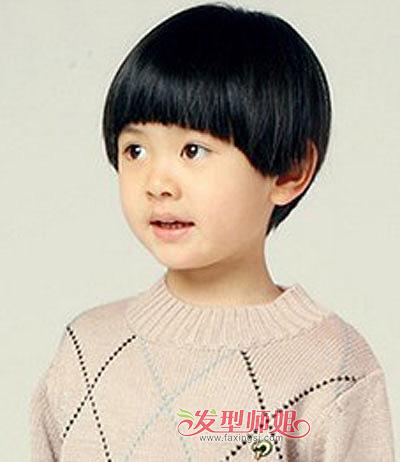 儿童蘑菇头发型 小男孩短发蘑菇头(2)