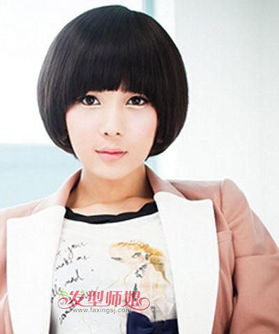 蘑菇头短发女生发型 超短蘑菇头发型图片图片