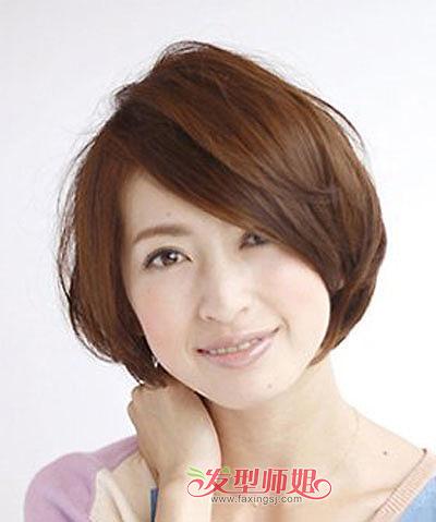 圆脸女孩斜分刘海短发-圆脸胖脸女孩适合什么短发 适合圆胖脸的短发