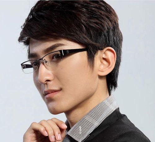 男生斜刘海中长发纹理烫发型-纹理烫男生发型怎么吹 男生纹理烫发型图片