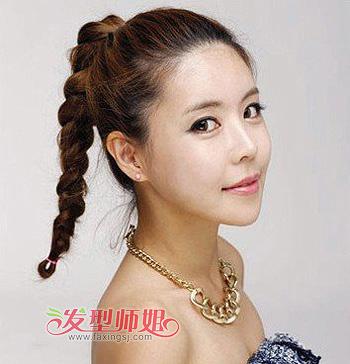韩国女生马尾辫发型 韩式高马尾辫发型图片