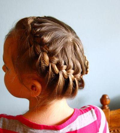 女童扎辫发型 宝贝发型辫子的扎发(4)