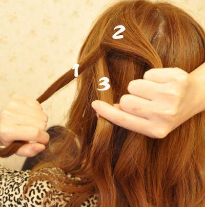 韩国蝎子辫子发型扎法 蝎子辫发型扎法图解图片