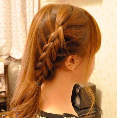 韩国蝎子辫子发型扎法 蝎子辫发型扎法图解(8)图片