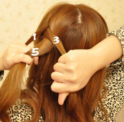韩国蝎子辫子发型扎法 蝎子辫发型扎法图解(4)图片