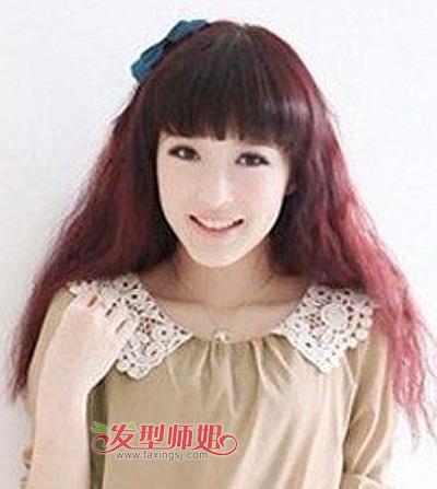 染酒红色头发会显黑吗 16岁女生染酒红色头发图片 发型师姐图片