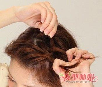 清新花苞头发型 长发花苞头的扎法图解