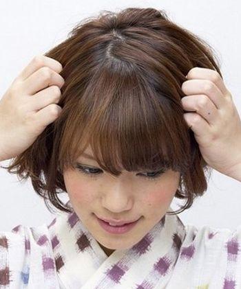 超短蘑菇头多久才能扎辫子 蘑菇头短发绑辫子步骤图片