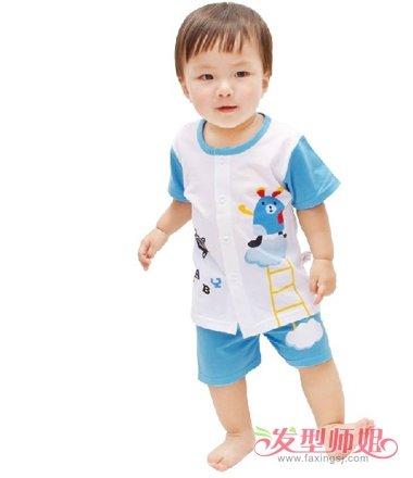 1岁男造型图片1岁男孩头发图片发型齐刘海长发宝宝中短发图片