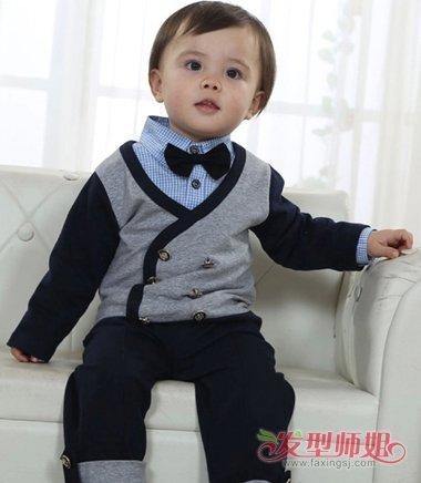 1岁男发型造型1岁男孩头发圆脸发型宝宝黑色图片v发型适合图片