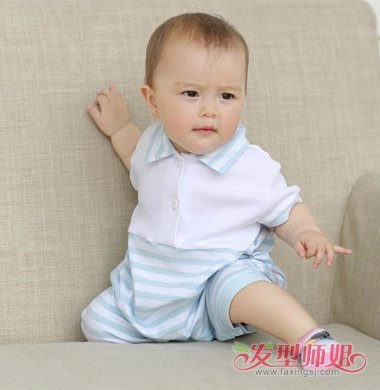 1岁男宝宝发型 1岁男孩头发造型图片(2)