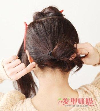 韩国短发辫子发型扎法