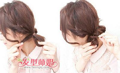 短发大脸烫发扎马尾 脸大的女生马尾发型(2)图片