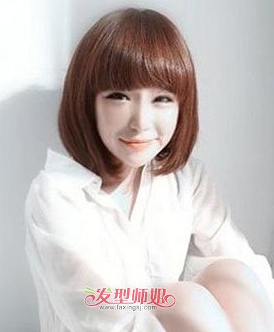 长脸短额头女生平刘海短发-脸长额头短的女生适合什么发型 脸长额头
