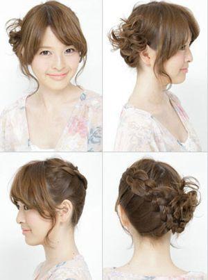 发型diy 盘发 >> 胖脸夏季中长发盘发发型 简单的胖脸盘头发方法(5)图片