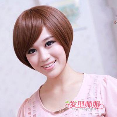 圆脸女孩适合什么短直发发型 胖圆脸短直发发型图片(2