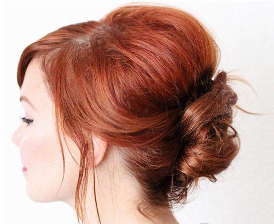 长 卷发做出来的盘发和长 直发明显是不一样的,梳好看的长发盘发造型图片