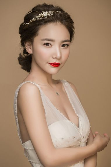 超短发新娘盘发造型 新娘怎么做短发盘头(2)