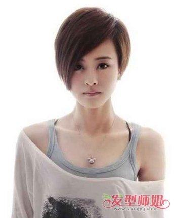 长脸适合什么超短发型 长脸女生短发发型设计图片(4)图片