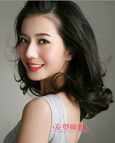 大脸适合无刘海吗 大脸无刘海女生发型图片
