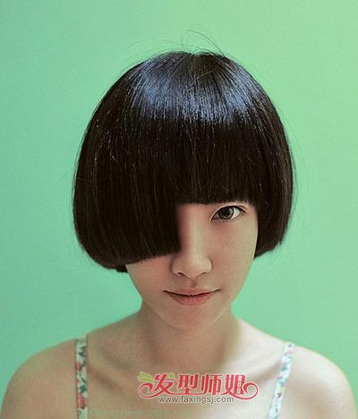 女生时尚短发发型图片