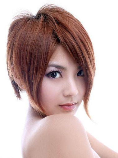 沙宣偏梳柔顺短发纹理烫发型-沙宣短发纹理烫图片 沙宣纹理烫效果图