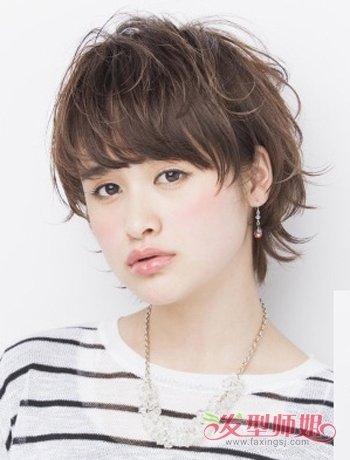 方脸女生长头发稀少适合什么短发发型图片