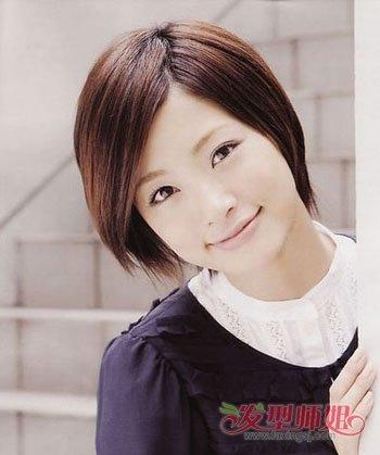 方脸女生长头发稀少适合什么短发发型(4)图片