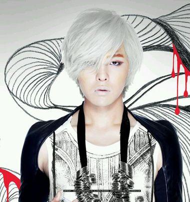 男生怎么染白头发好看_发型图片