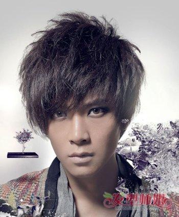 潮男长发飞机头发型_男生烟花烫发型 烟花烫时尚发型图片(3)_发型师姐