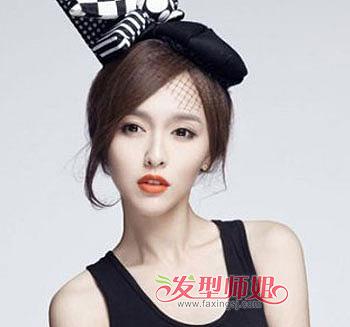 脸方的人怎么盘发 适合方脸的盘发发型图片(2)