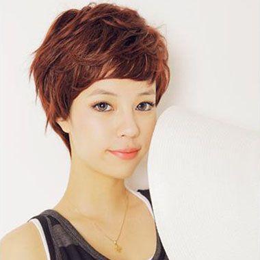 女生短发纹理烫发型图片 短发纹理烫发型图片(4)图片