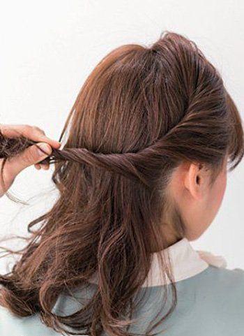 2016非主流最新中长发盘发发型 女生盘非主流长发头图片图片