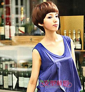 最流行女短发纹理烫发型 女生纹理烫短发发型图片(3)