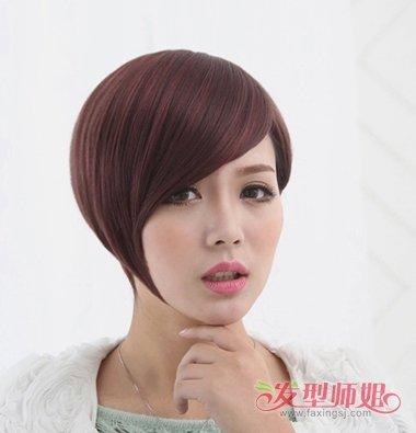 短发沙宣玉米烫发型 女士沙宣短发烫发发型(3)图片