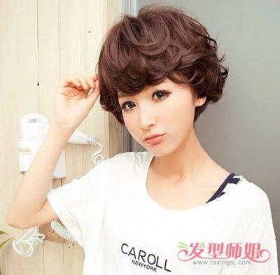 女生纹理烫如何将头发吹的饱满 女生纹理烫时尚发型(4