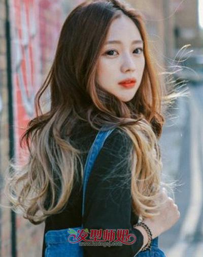中分长发染发发型图片 中分长发染什么颜色好看可爱 发型师姐图片