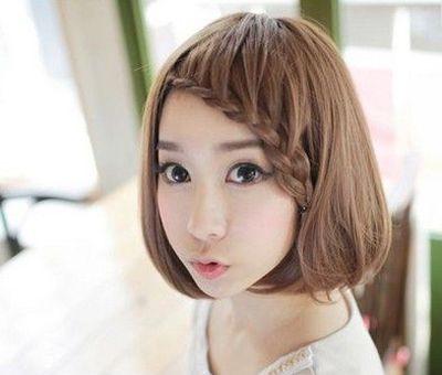 流行发型 bob发型 >> 学生圆脸女生bobo头图片 圆脸适合的短发bobo头图片